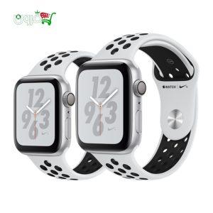 ساعت هوشمند اپل واچ نایک سری ۴۰ و ۴۴ میلیمتری نقره ای با بدنه آلومینیوم و بند نایک