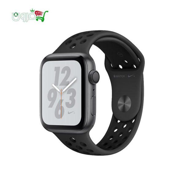 ساعت هوشمند اپل واچ نایک سری 40 و 44 میلیمتری مشکی با بدنه آلومینیوم و بند نایک