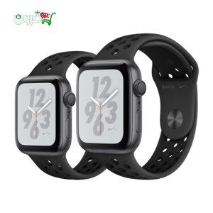ساعت هوشمند اپل واچ نایک سری ۴۰ و ۴۴ میلیمتری مشکی با بدنه آلومینیوم و بند نایک
