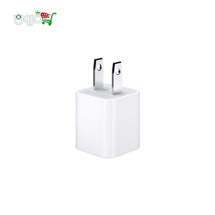 شارژر اورجینال ۵ وات اپل با خروجی USB