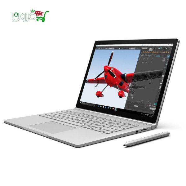 لپ تاپ 13 اینچ مایکروسافت سرفیس بوک Ci7-8G-256G SSD-Nvidia دارای قلم لمسی