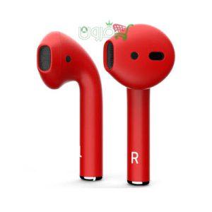 هدفون بی سیم اپل Airpods 2 قرمز و آبی