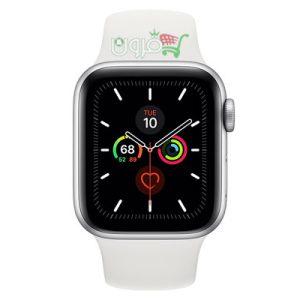 ساعت هوشمند اپل Apple Watch 5 40mm بدنه آلومینیوم نقره ای با بند اسپورت