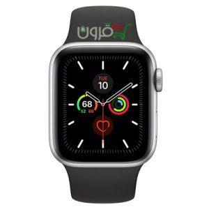ساعت هوشمند اپل Apple Watch 5 44mm بدنه آلومینیوم نقره ای با بند اسپورت