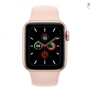 ساعت هوشمند اپل Apple Watch 5 40mm بدنه آلومینیوم طلایی با بند اسپورت