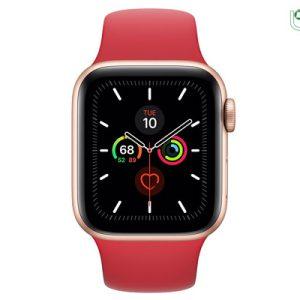 ساعت هوشمند اپل Apple Watch 5 44mm بدنه آلومینیوم طلایی با بند اسپورت