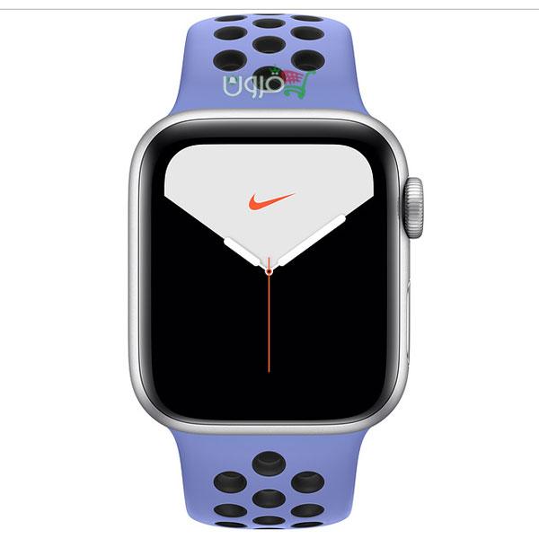 ساعت هوشمند اپل Apple Watch 5 Nike 40mm با بدنهی آلومینیوم نقرهای
