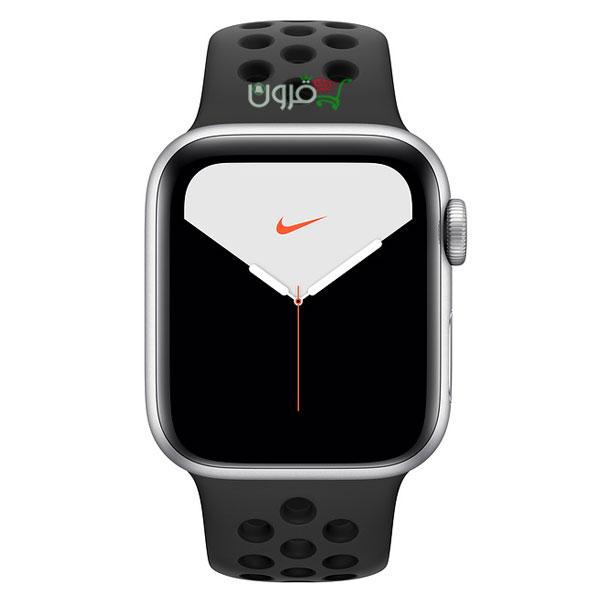 ساعت هوشمند اپل Apple Watch 5 Nike 44mm با بدنهی آلومینیوم نقرهای