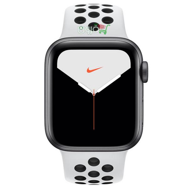 ساعت هوشمند اپل Apple Watch 5 Nike 44mm با بدنهی آلومینیوم خاکستری