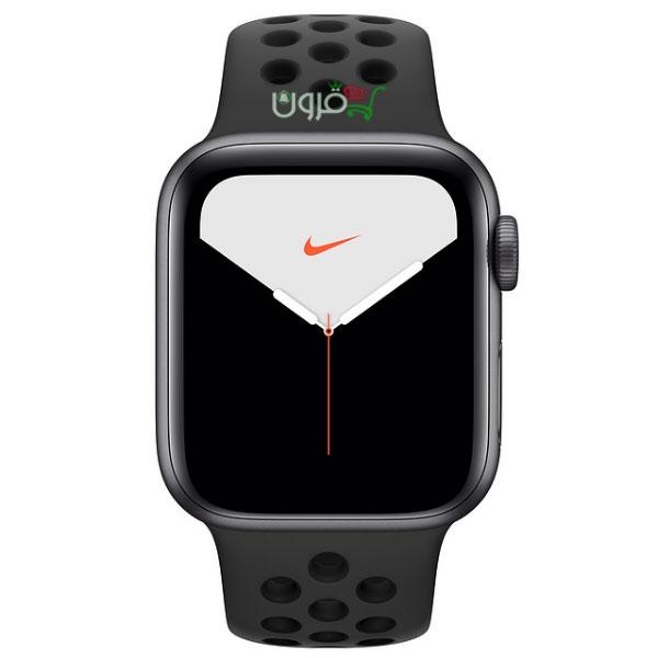 ساعت هوشمند اپل واچ 5 نایک سایز 44mm با بدنهی آلومینیوم خاکستری