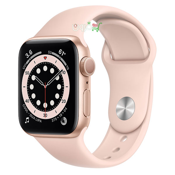 ساعت هوشمند اپل Apple Watch 6 GPS سایز 40mm رنگ طلایی بند اسپرت رزگلد
