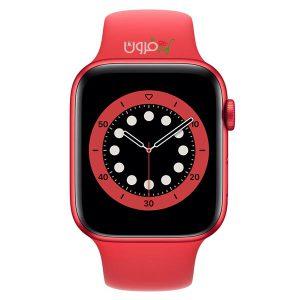 ساعت هوشمند اپل Apple Watch 6 GPS سایز ۴۴mm رنگ قرمز بند اسپرت قرمز