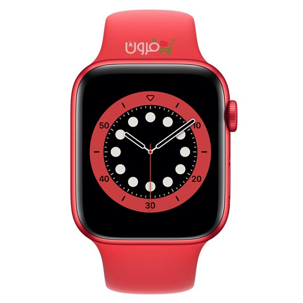 ساعت هوشمند اپل Apple Watch 6 GPS سایز 44mm رنگ قرمز بند اسپرت قرمز