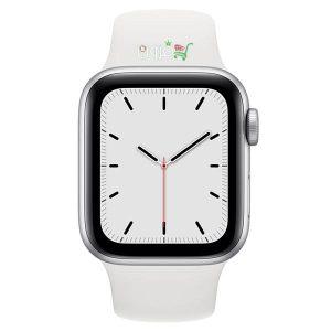 ساعت هوشمند اپل Apple Watch SE GPS سایز ۴۰mm رنگ نقره ای بند اسپرت سفید