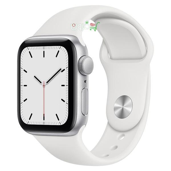 ساعت هوشمند اپل Apple Watch SE GPS سایز 40mm رنگ نقره ای بند اسپرت سفید