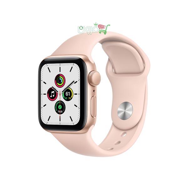 ساعت هوشمند اپل Apple Watch SE GPS سایز 40mm رنگ طلایی بند اسپرت رزگلد